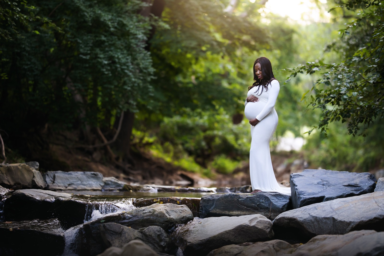 Mini Outdoor Maternity Session at Cromwell Valley Park
