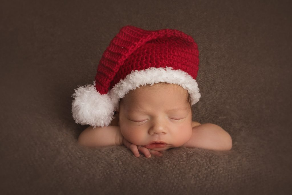Santa hat baby - edited photo