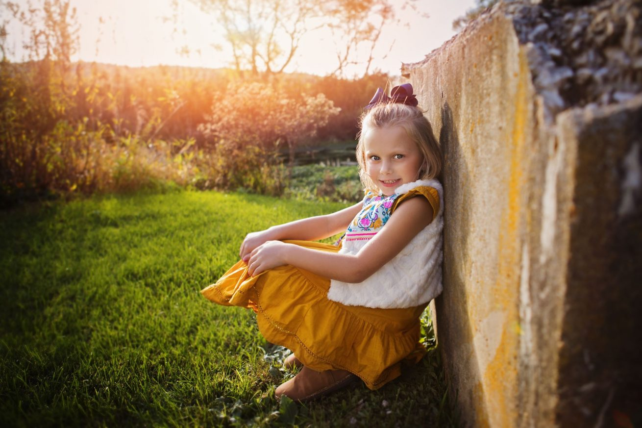 portrait photography of a girl during a golden hour