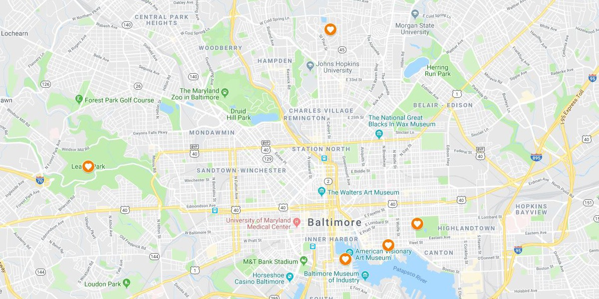 Baltimore Map - Maternity Photography