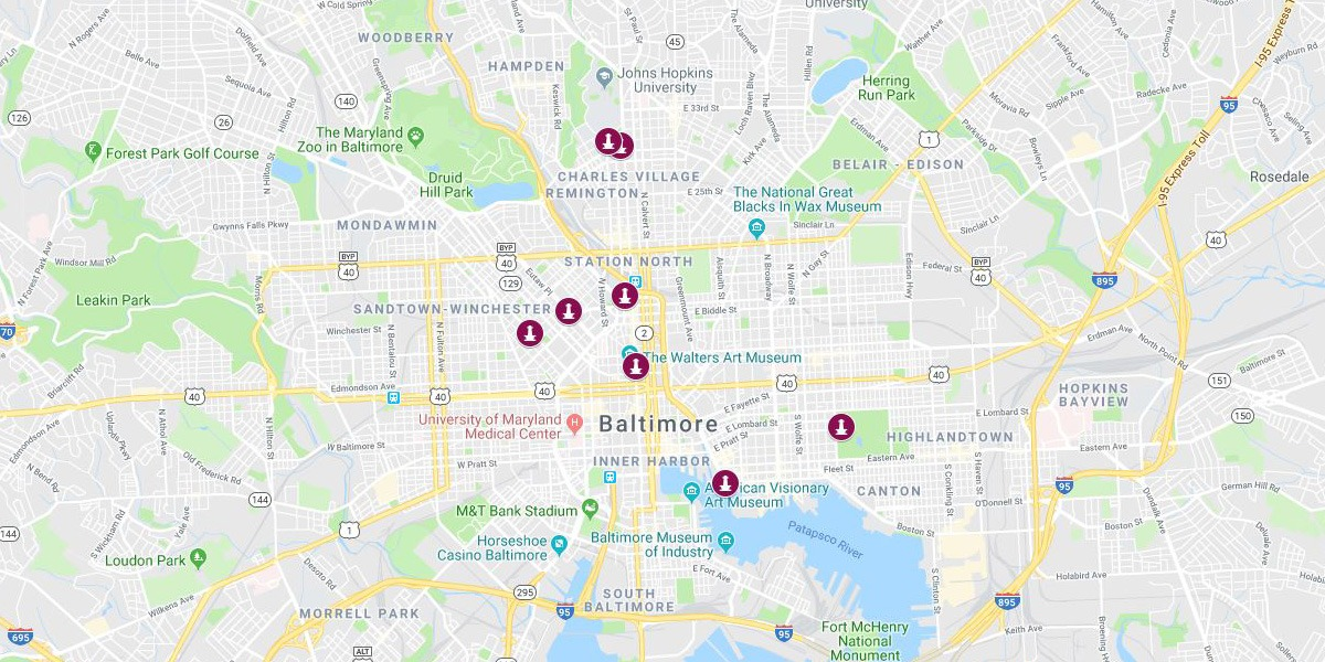 Baltimore Map - Monuments
