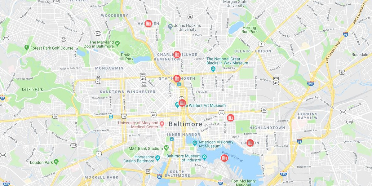 Baltimore Map - Neighborhoods