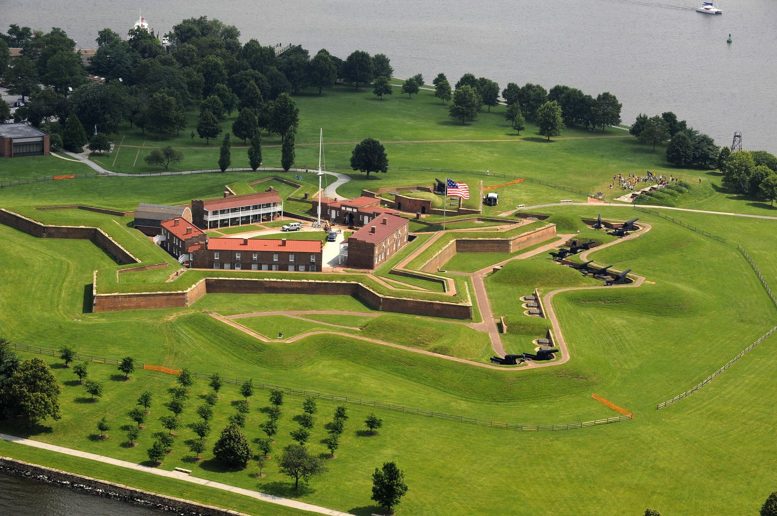 Fort McHenry from an aerial view