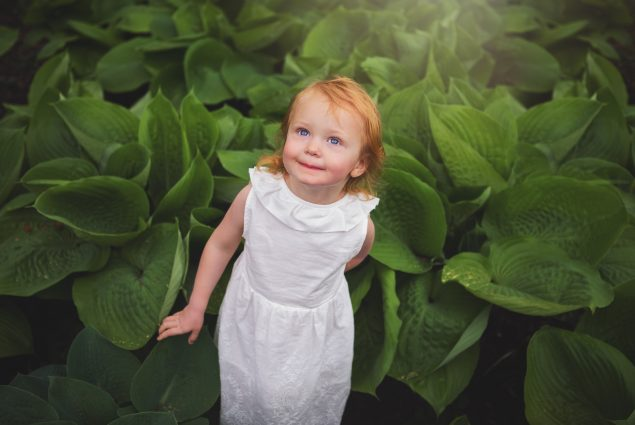 Child in arboretum in Baltimore photo session