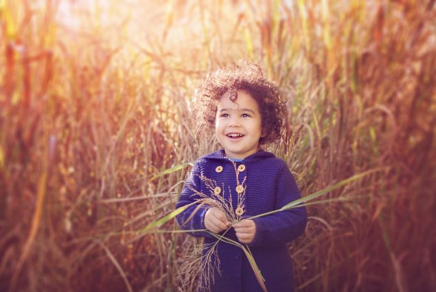 Fall colors professional portrait of a child