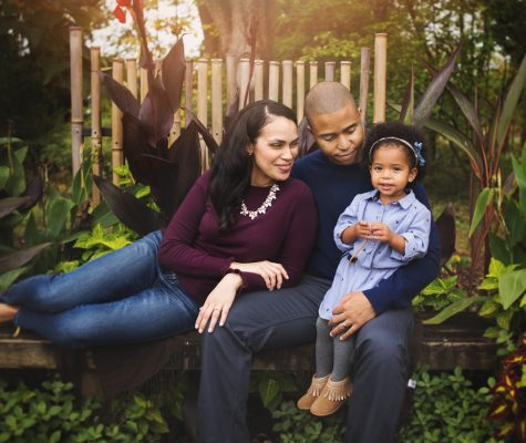 Fall family photography session in Baltimore arboretum