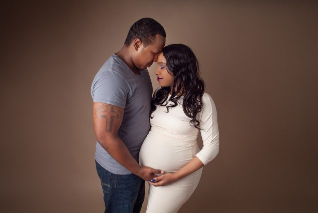Pregnancy photoshoot in Baltimore studio