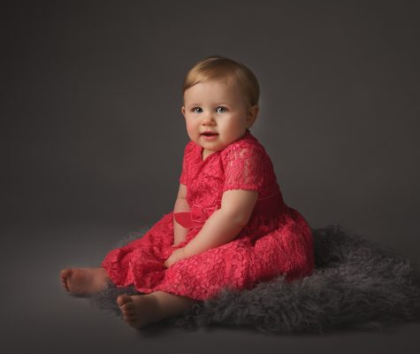 Two year old girl during a milestone photography session