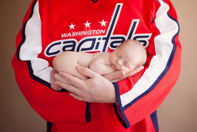 Washington Capitals jersey and newborn
